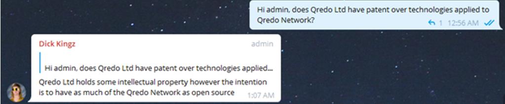 Qredo filling patents