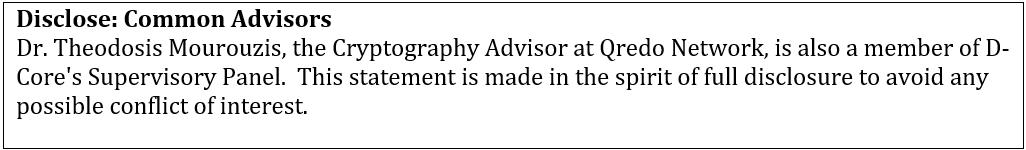 Qredo disclosure: common advisors