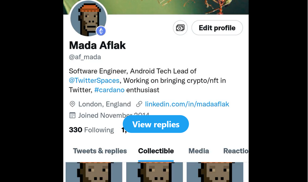 Ethereum Future NFT Twitter integration